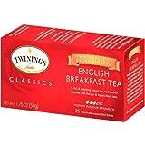 Twinings, Classics, English Breakfast Tea, Decaffeinated, 25 Tea Bags, 1.76 oz (50 g)