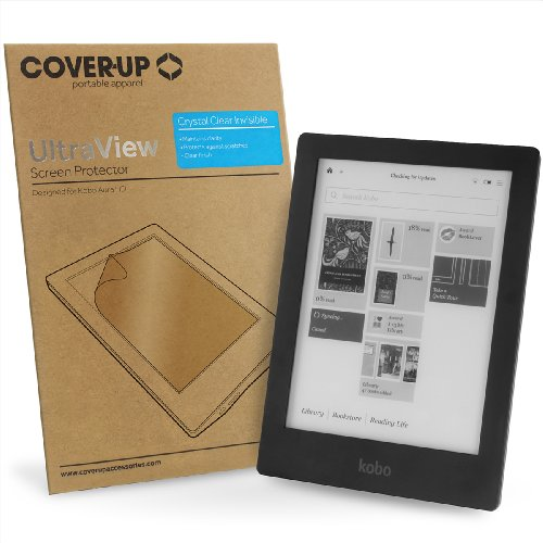 Cover-Up Kobo Aura HD eReader Tablet Crystal Clear Invisible Screen Protector at Electronic-Readers.com
