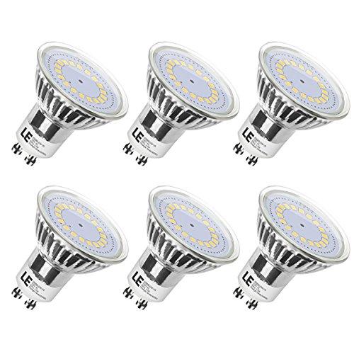 LE MR16 GU10 LED Bulbs, 50W Halogen Bulbs Equivalent, 3.5W ,350lm, 120° Beam Angle, 5000K Daylight White, LED Light Bulbs, Pack of 6 Units (Gu10 Led Bulbs compare prices)