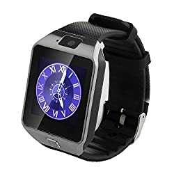Celkon Millennium Power Q3000 COMPATIBLE Bluetooth Smart Watch Phone With Camera and Sim Card Support With Apps like Facebook and WhatsApp Touch Screen Multilanguage Android/IOS Mobile Phone Wrist Watch Phone with activity trackers and fitness band features by Estar