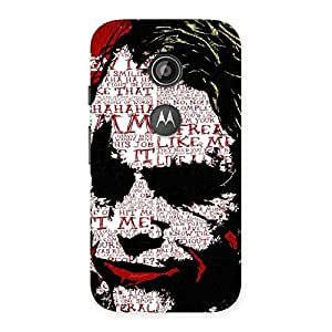 Special Insane Writing Back Case Cover for Moto E 2nd Gen