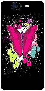 Snoogg Beautiful Butterfly On The Black Background Designer Protective Back C...