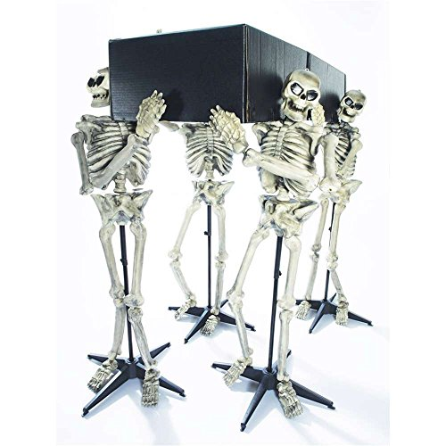 Skeleton Pall Bearers with Coffin Decoration - One Size