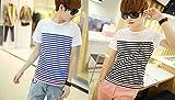 定番人気 ボーダーTシャツ メンズ 半袖 赤ライン ブラック ブルー