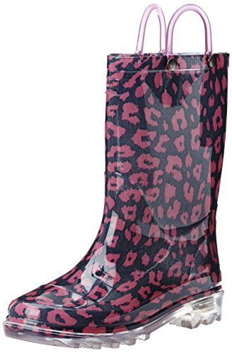 Toddler Girl's Western Chief 'Wild Cat' Light-Up Rain Boot,