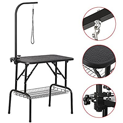 """Beyondfashion Strong Constructed Portable Dog Pet Large Grooming Table Excellent Working Platform Waterproof Non-slip 32"""""""