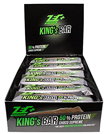 ZEC+ NUTRITION Proteinriegel 50% KING'S BAR Geschmack WHITE CHOCOLATE RASBERRY 24er Box 1200g