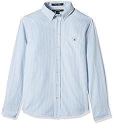 Gant Boys' Shirt (GBSFF0006_Sea Blue_XL)