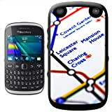 Close Up Tube Map Leicester Square, London Hard Case Clip On Back Cover For Blackberry 9320 Curve