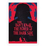 """The Power Of Dark Side Darth Vader Movie Quotes Poster Size In A3 (16.5"""" X 11.7"""")"""