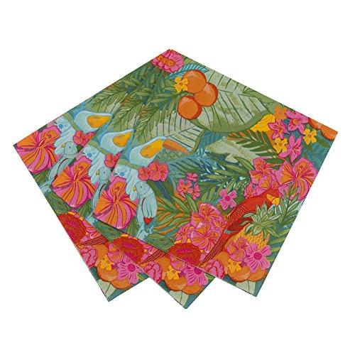 Talking Tables FST2-NAPKIN Fiesta Tropicale Serviette de Table Décoration Papier Carton Multicolore 1,5 x 20 x 20 cm Pack de 20