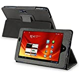 eForCity Leather Folio Stand Case Pouch for 7-Inch Acer Iconia A100, Black (PACEA100LC01)