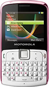 Motorola EX115 Unlocked Dual SIM Phone with 3 MP Camera, MP3 Player, Bluetooth and QWERTY Keyboard - International Warranty - Modern Pink