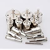 Forsun 15pcs Diamond tool drill bit hole saw set for glass ceramic marble from 6-50mm