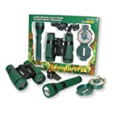 Carson AdventurePak Containing 5x30 Binocular, Lensatic Compass, Flashlight, and Whistle/Thermometer (HU-401) ~ Carson