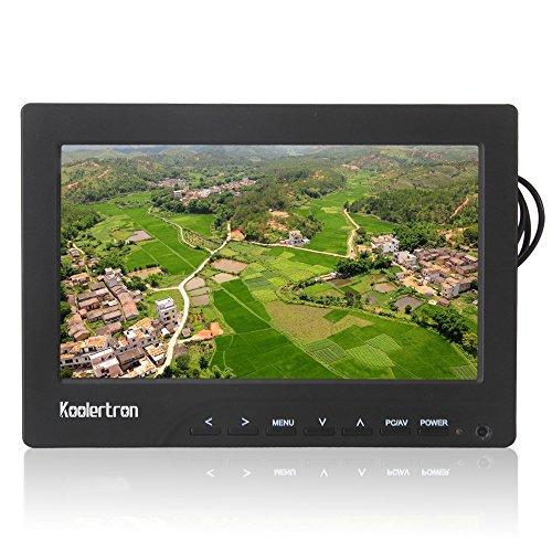 Koolertron-7-Zoll-Aerial-Photography-TFT-LCD-Monitor-mit-Sonnenblende-Blue-Screen-fr-DSLR-DV-Video-Camera-Kamera-mit-AV-Kabel-DC-12V-Netzteil-Sonnensegel-Deutsch-Verwendung-manueller-mit-800-x-3-RGB-x