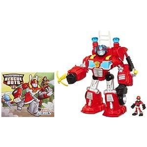 Transformers Rescue Bots Playskool Heroes Electronic Heatwave The Fire-Bot Set