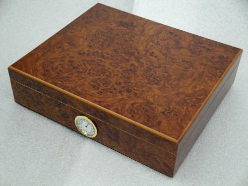 Humidor hold 20 cigars hygrometer readable from the outside