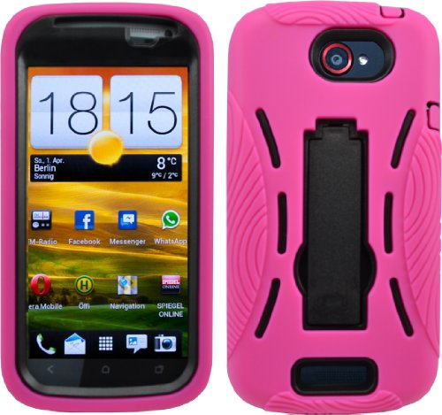 Shock Proof Armored Defender Case/Cover For Htc One S Ville Armor T-Mobile Pink