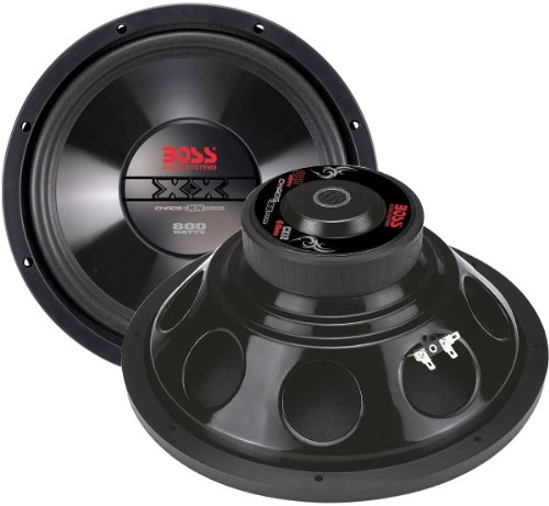 Boss Audio Cx8 Chaos Exxtreme 8-Inch 400-Watt Single Voice Coil Subwoofer
