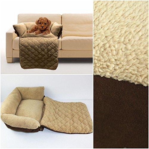 1Pc Sumptuous Popular Pet Sofa Bed Size L Short Cushion Puppy Mat Puppy Mat Color Brown