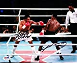 Sugar Ray Leonard & Roberto Duran Autographed Signed 8x10 Photo - PSA/DNA Certified - Autographed Boxing Photos