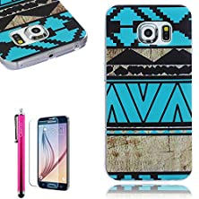 buy S6 Edge Case,Full Protective [ Flexible] Unique Case [Ultra Slim] Durable Soft Tpu Gloss Cover [Great Fit] Elegant Pattern Clear Cover Case For Samsung Galaxy S6 Edge
