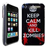 Keep Calm And Kill Zombies Design Hard Skin Back Case Cover Hardcase For iPhone 3 3G 3GS
