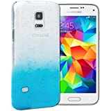 Mobile Case Mate Samsung Galaxy S5 i9600 Schwer Fall H�lle Case Cover Klar and Blau Regentropfen Wassertropfen