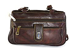 Adbeni Womens Stylish Genuine Leather Handbag-Dark Brown HBCL-07