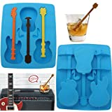 Acoustic Guitar Chocolate Mould Maker Cake Ice Tray Jelly Party Freeze Silicone