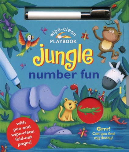 Wipe-Clean Jungle: Number Fun: With Pen and Wipe-Clean Fold-out Pages