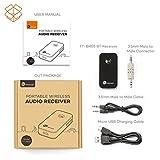 TaoTronics-Bluetooth-Empfnger-Adapter-Tragbare-Bluetooth-40-Receiver-Wireless-Adapter-Audiogerte-fr-Heim-Auto-Lautsprechersystem-und-Handy-mit-Stereo-35-mm-Aux