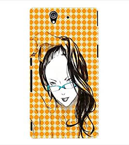 ColourCraft Girly Back Case Cover for SONY XPERIA Z - C6603 / C6602