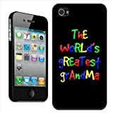 Fancy A Snuggle 'The World's Greatest Grandma Birthday Gift' Clip On Back Cover Hard Case for Apple iPhone 4/4S