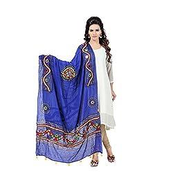 Banjara WomenS Cotton Stoles & Dupattas Kutchi Mirrorwork (Kch12 _Royal Blue _Handicraft Dupatta_Free Size)
