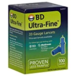 BD Ultra-Fine Lancets, 33 Gauge, 100 ct.