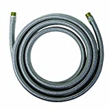 Watts WTS-SPCC120-44PB Stainless Steel Icemaker Supply Line, 10-Foot