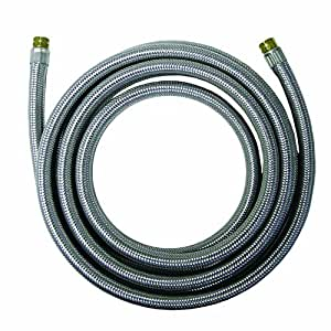 Watts WTS-SPCC60-44PB Stainless Steel Icemaker Supply Line, 5-Foot