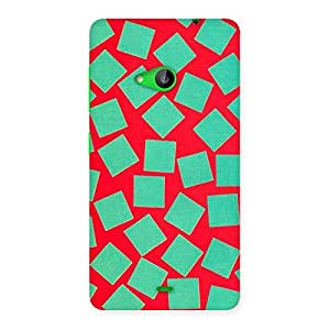 Stylish Green Red Print Back Case Cover for Lumia 535