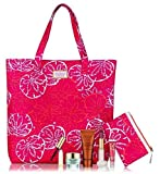 Estee Lauder Summer Gift Set inc Mascara, Lipstick, Lipgloss, Moisturizer, Self Tan, Lilly Pulitzer Tote / Beach Bag and Purse