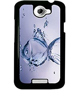 ColourCraft Fantasy Fish Design Back Case Cover for HTC ONE X