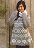 Nordic Haze Women's Fair Isle Snowflake Motif Jumper Knitting Pattern: To fit bust or chest 32