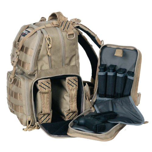 G.P.S. Tactical Range Backpack, Tan (Range Bag Tactical Backpack compare prices)