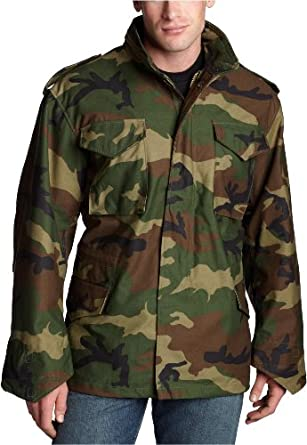 Alpha Industries Men's M-65 Field Coat,MT,Woodland Camo
