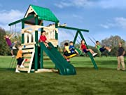 Yukon Wood Complete Ready-to-Assemble Swing Set Kit