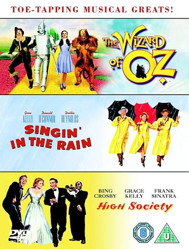 Singin' In The Rain / Wizard of Oz / High Society [DVD]