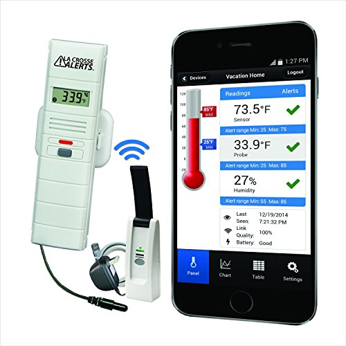 La Crosse Alerts Mobile 926-25101-GP Wireless Monitor System Set with Dry Probe (Wi Fi Alarm System compare prices)