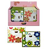 Carton Board Picture Frame Set 2pc - 4inch X 6inch Flower Picture Frame - Small Picture Frame