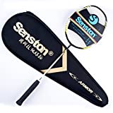 Senston Performance High Quality ALL-Graphite Single Badminton Racket (4U-G4/G5) 7 Color With Racket Cover